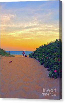 To The Beach Canvas Print by Todd Breitling
