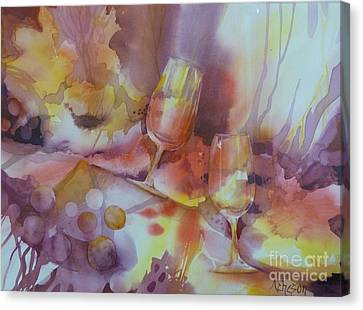 To The Bottom Of The Glass Canvas Print by Donna Acheson-Juillet