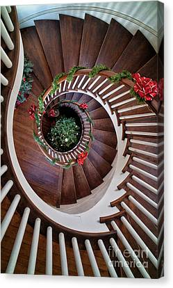 To The Bottom Of The Staircase Canvas Print by Nicki McManus