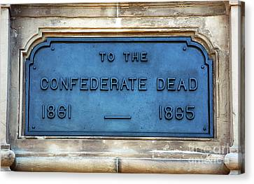 To The Confederate Dead Canvas Print by John Rizzuto