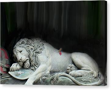 To The Loyalty And Bravery Of The Swiss Canvas Print by Al Bourassa