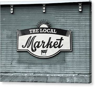 To The Market -in Blue Canvas Print by Alison Sherrow I AgedPage