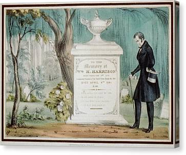 To The Memory Of William H. Harrison Canvas Print by Everett