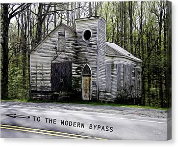 To The Modern Bypass Canvas Print