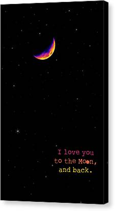 To The Moon And Back Canvas Print by Rheann Earnest