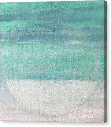 Canvas Print featuring the painting To The Moon by Kim Nelson