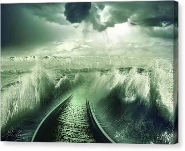 To The Sea Canvas Print by Svetlana Sewell