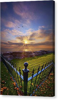 To The Shore And Horizon's Bounty Canvas Print