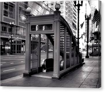 To The Subway - 2 Canvas Print by Ely Arsha