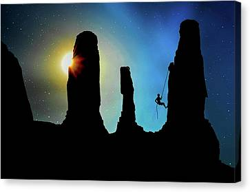 Climbing Canvas Print - To The Top by Mountain Dreams