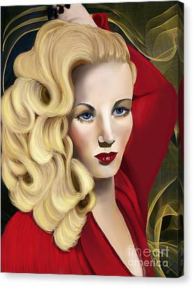 To Veronica Lake Canvas Print by Sydne Archambault