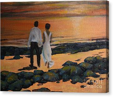 To Wed At Rocky Point Canvas Print