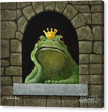 Toad King... Canvas Print