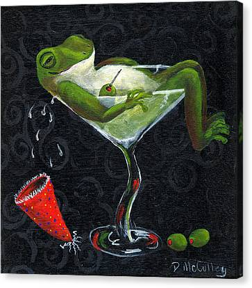 Toadally Under The Influence Canvas Print by Debbie McCulley