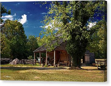 Tobacco Barn Canvas Print by Christopher Holmes