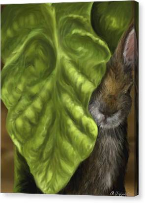 Canvas Print featuring the digital art Tobacco Hare by Meagan  Visser