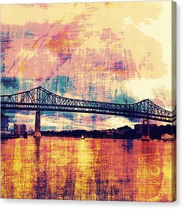 Tobin Bridge Boston Ma Canvas Print by Brandi Fitzgerald