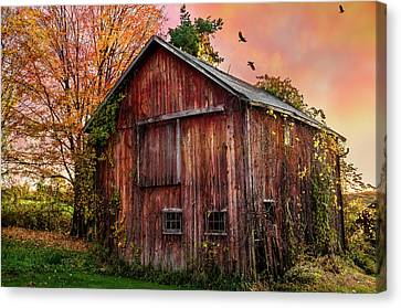 Tobin's Vintage Countryside Barn Canvas Print by Thomas Schoeller