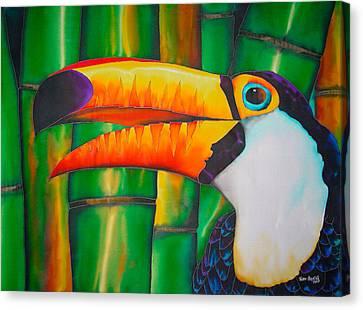 Toucan Postcard Canvas Print - Toco Toucan by Daniel Jean-Baptiste