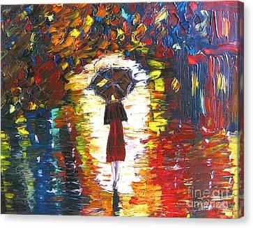 Today I Walk Alone Canvas Print by Kim Peto