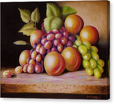 Canvas Print featuring the painting Todays Harvest by Gene Gregory