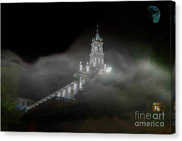 Canvas Print featuring the photograph Todos Santos In The Fog by Al Bourassa