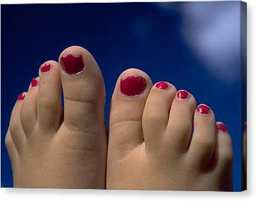 Toes Canvas Print by Michael Mogensen