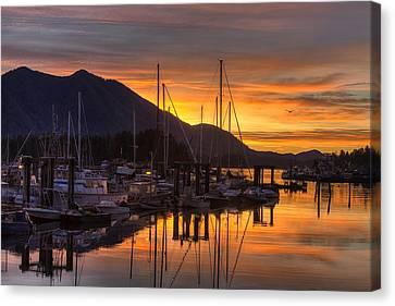 Tofino Docks Sunrise - A Tribute Canvas Print by Mark Kiver