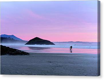 Tofino Sunset Canvas Print by Keith Boone