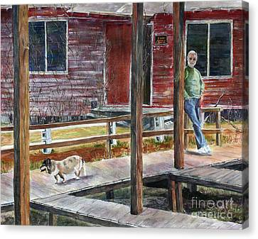 Together Again At The Old Fish Camp Canvas Print by Janet Felts