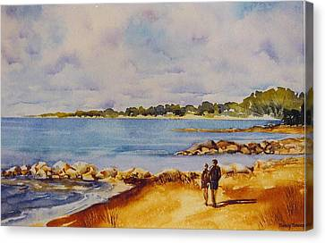Together-at-georgian-bay Canvas Print by Nancy Newman