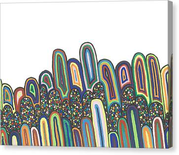 Canvas Print featuring the drawing Together by Jill Lenzmeier