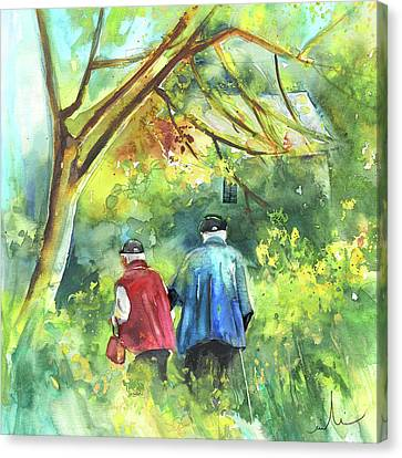 Together Old  In Italy 07 Canvas Print by Miki De Goodaboom
