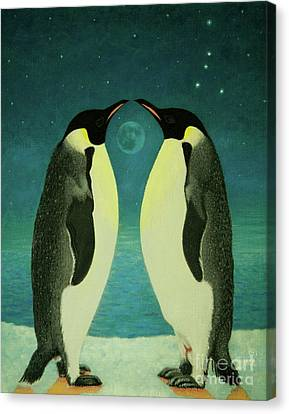 Together Under The Moon Canvas Print by Shelley Irish