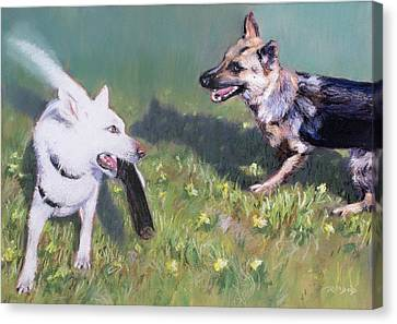 Togo And Friend Canvas Print