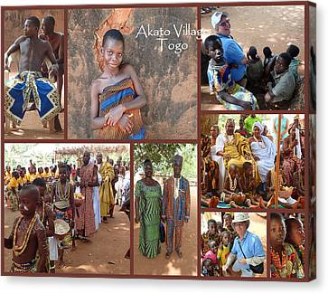 Togo Village In West Africa Collage Canvas Print by David Smith