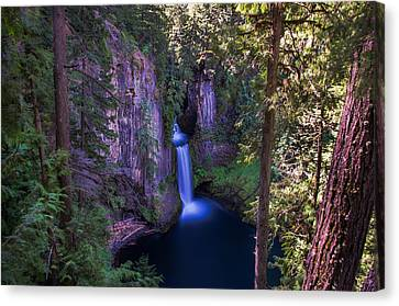 Crater Lake National Park Canvas Print - Tokatee Falls Oregon by Scott McGuire