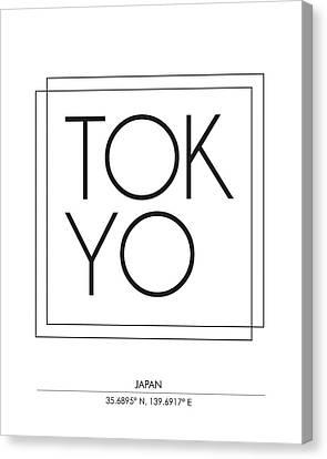 Tokyo City Print With Coordinates Canvas Print