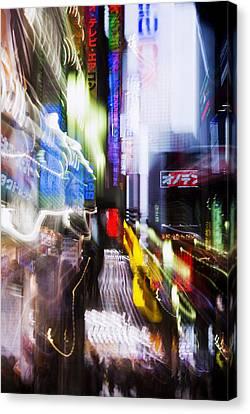 Tokyo Color Blurs Canvas Print by Bill Brennan - Printscapes