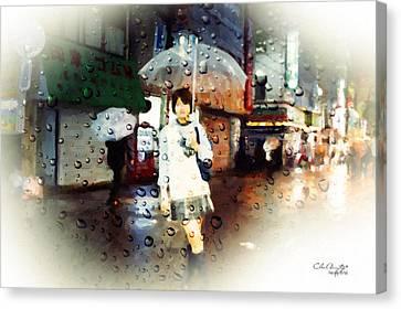 Rainytokyo Night Canvas Print