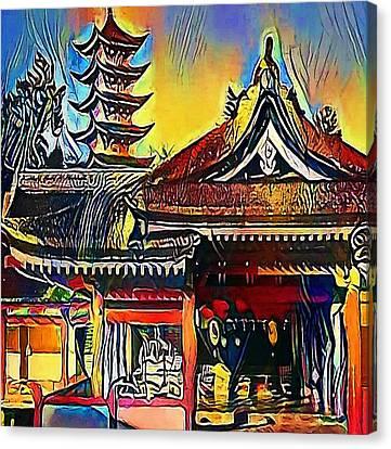 Tokyo - Sensoji-ji, Temple In Asakusa, Japan - My Www Vikinek-art.com Canvas Print by Viktor Lebeda