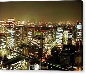 Tokyo Skyline Canvas Print - Tokyo Skyline by Nancy Ingersoll