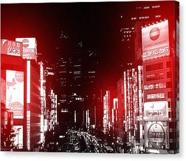 Building Canvas Print - Tokyo Street by Naxart Studio