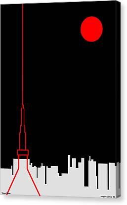 Tokyo Tower Canvas Print by Asbjorn Lonvig