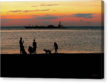 Tolchester Silhouette Canvas Print by Brian Wallace