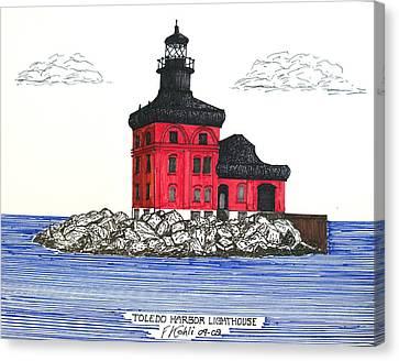 Toledo Harbor Lighthouse Canvas Print by Frederic Kohli
