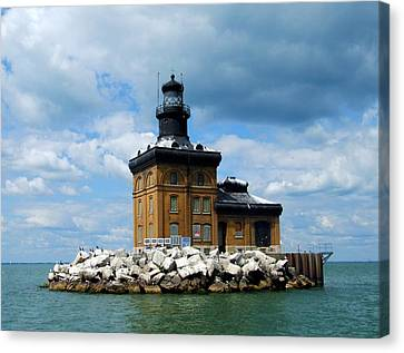 Canvas Print featuring the photograph Toledo Harbor Lighthouse by Michiale Schneider