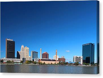 Canvas Print featuring the photograph Toledo Skyline I by Michiale Schneider