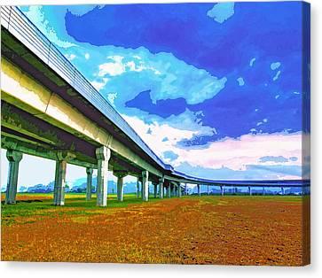 Florida Bridge Canvas Print - Toll Road by Dominic Piperata