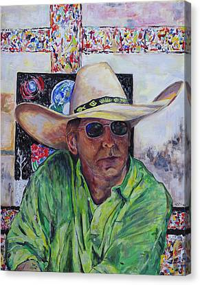 Toller Cranston In Cowboy Hat Canvas Print by Andrew Osta